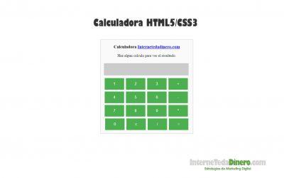 Hacer una calculadora en HTML