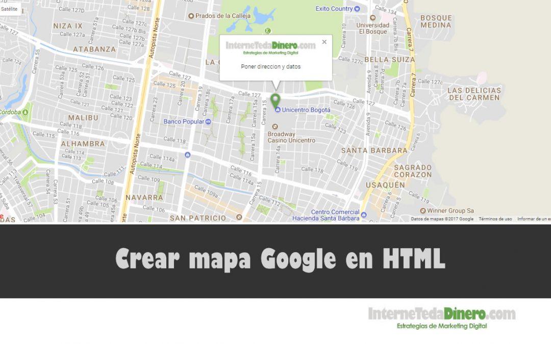 Crear mapa Google en HTML