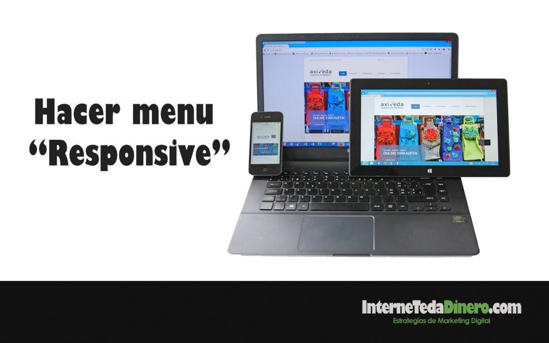 """Hacer menu """"Responsive"""""""
