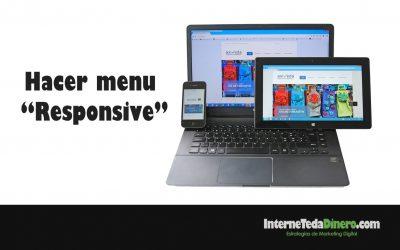 Hacer menu «Responsive»