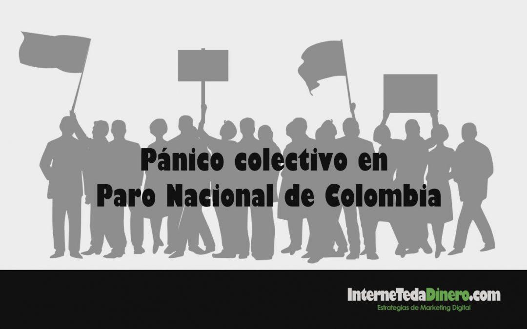 Pánico colectivo en Paro Nacional de Colombia