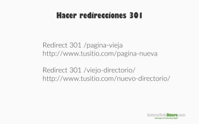 Hacer redirecciones 301