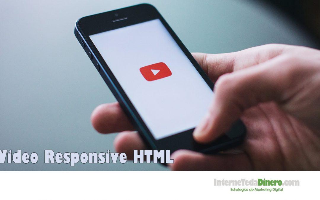 Video Responsive HTML