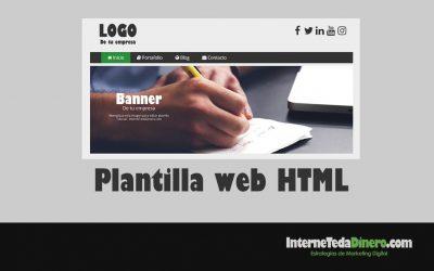 Plantilla web en HTML